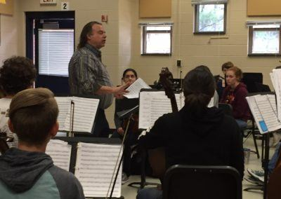 Concertmaster Vahn Armstrong Visits JHS Strings  Students